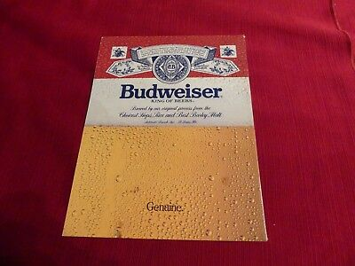 Vintage 1987 Budweiser King of Beers print ad  Great to frame!