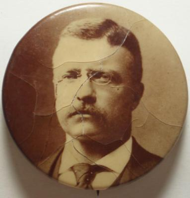 "1904 PRESIDENTIAL ELECTION Original THEODORE ROOSEVELT Larger ""POLITICAL"" Button"