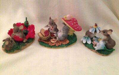 Lot Of 3 Charming Tails Figurines Fitz & Floyd