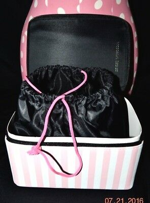 Victorias Secret Iconic Travel Train Case Jewelry Cosmetic Lingerie Bag Box NWT
