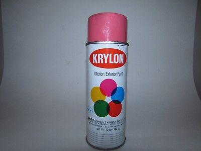 Vintage KRYLON SPRAY PAINT CAN Hot Pink No. 2110 FULL!