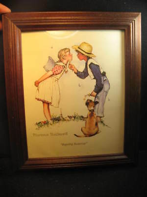 "Norman Rockwell ""beguilling Buttercup.12 X 10 Wooden Frame,glass Face."