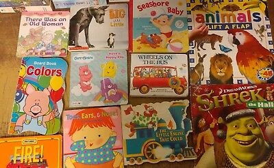 Lot of 35 Board Toddler Hardcover Picture DayCare Kid Child Books - UNSORTED B04
