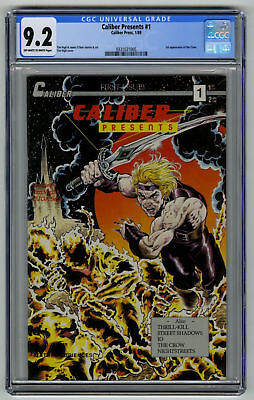 Caliber Presents #1 CGC 9.2 HIGH GRADE Caliber Press KEY Comic 1st Crow