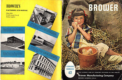 Poultry Supplies 1951 Catalog Brower Manufacturing Co. Brooders Feeders Etc