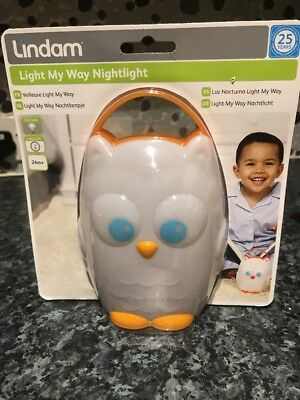 Lindam Portable Cordless Battery Powered LED Night Light Lamp Owl Light My Way