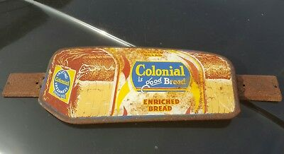 Vintage Colonial is Good Bread Screen Door Push Sign Loaf Bakery Country Store