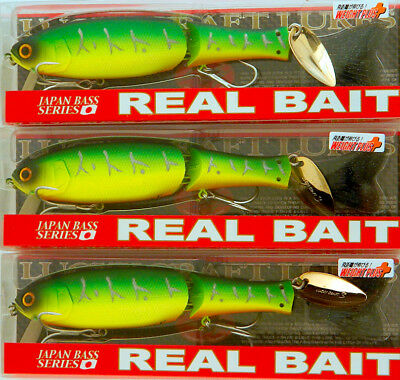 *(Lot Of 3) Lucky Craft Real Bait F-Wp 1 1/4Oz Rlca128F-Wp-0808 Mat Tiger (D4)