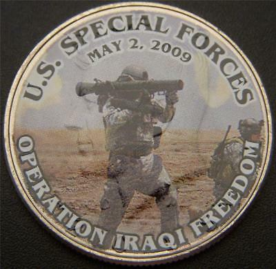U.S. Special Forces Iraq War Commemorative Colorized JFK Half Dollar