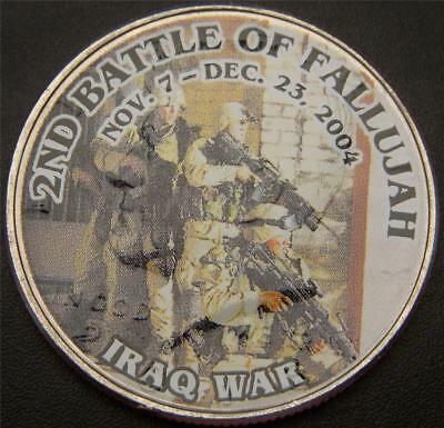 2nd Battle of Fallujah Iraq War Commemorative Colorized JFK Half Dollar
