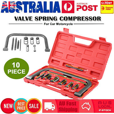 10Pcs Valve Spring Compressor Tool Kit for Car Motorcycle Petrol Engines W/ Box