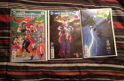 NEW DC Comics Harley Quinn Batman Day Special 2017 Complete Set Lot of 3 Issues!