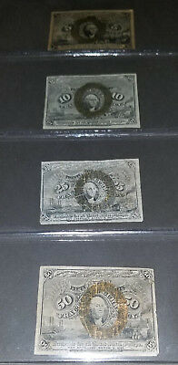 U.S. Fractional Currency lot of 4 notes postage lot #2