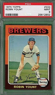 1975 Topps ROBIN YOUNT Rookie RC #223 PSA 9 MINT!! Brewers HOF!!