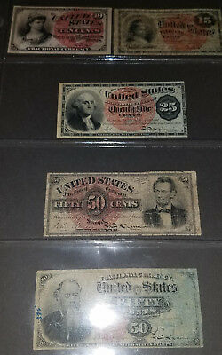 U.S. Fractional Currency lot of 5 notes postage lot #4