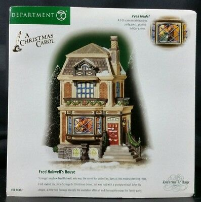 Dept 56 Dickens Village A Christmas Carol Fred Holiwell's House 58492 3-D View