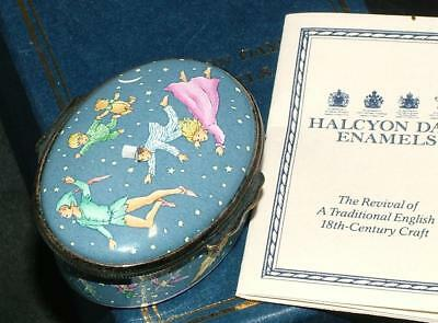 RARE Halcyon Days Enamel PETER PAN Special Even Children's Hospital Box MIB