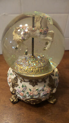 Carousel Water Globe Music Box