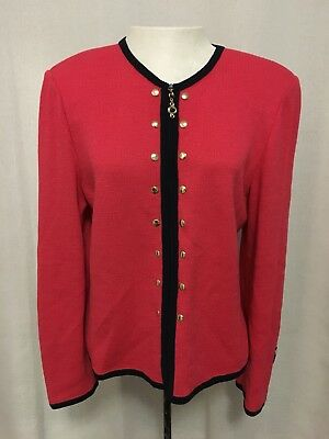 St. John Collection by Marie Gray Santana Knit Cardigan Sweater Size 8