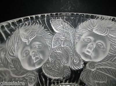 Vintage FRENCH Crystal CHERUB Vase
