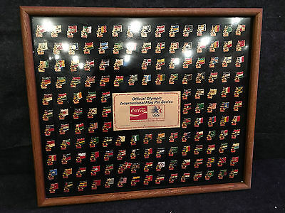 COCA COLA  1984 OLYMPIC 150 FLAG PIN SET SERIES Coke Sign Collection All nations