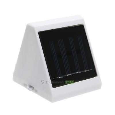 Outdoor 4 LED Solar Powered Stairs Fence Garden Security Lamp Waterproof BEST