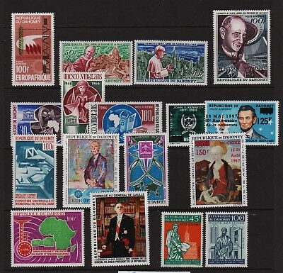 Dahomey - 17 Airmail stamps, mint, cat. $ 31.45