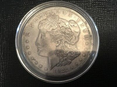 "1921 US. ""Morgan"" dollar coin."