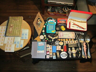 junk drawer lot estate sale old coins old marbles WHERE`S WALDO stamps old book