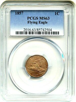 1857 Flying Eagle 1c PCGS MS63 - Popular First Year Type Coin