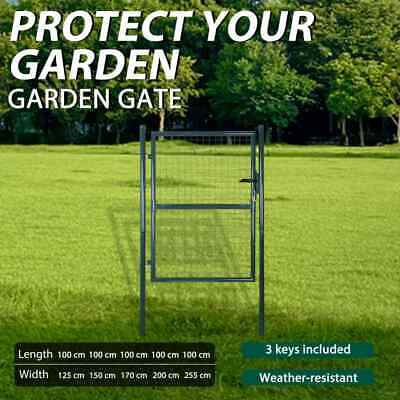 6 Sizes Garden Gate Fence Driveway Door Mesh Security Fencing Galvanized Steel