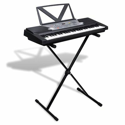 54-Key Keyboard Electric Digital Piano Music LED Screen Adjustable Stand X Style