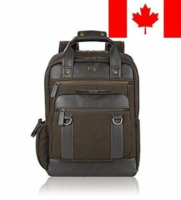 SOLOD EXE735-3U2 Executive Backpack with Padded Compartment for Laptops upto ...