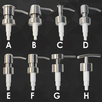 304 Stainless Steel Soap Pump Liquid Lotion Dispenser Replacement Jar Tube
