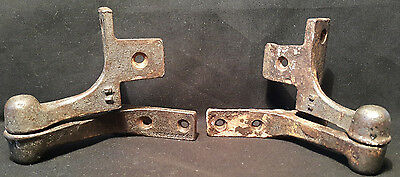 Antique Pair of  Cast Industrial Window/Shutter Hingers. Architectural Salvage