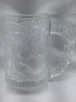 1995 McDonald's Collectible  Batman Forever Etched Glass Mug Made In France