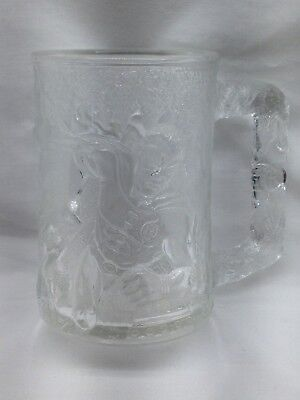 1995 McDonald's Batman Collectible Forever Robin Etched Glass Mug Made In France