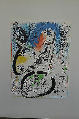 Marc Chagall Original Lithographie Selbstportrait 1