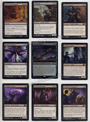 Schwarze Magic Karten, inkl. Mythic Army of the Damned, Whip of Erebos, Set Nr.5