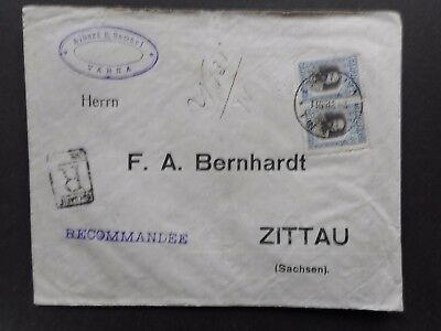R-Brief aus Bulgarien nach Zittau 1911     (32)