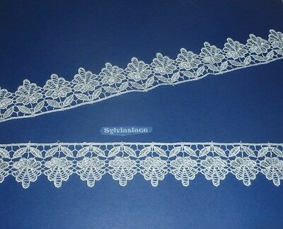 2.3  metres  of    Bautiful   Ivory    Guipure    Lace            4 cm Wide