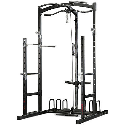 Marcy Eclipse RS5000 Power Rack Cage Home Multi Gym - Lat Pulldown & Low Pulley