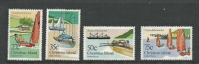 1983 Christmas Island Boat Club set of 4 Complete MUH/MNH