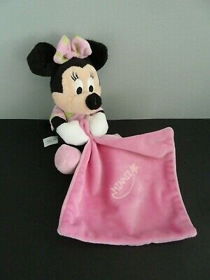 *- Doudou Disney Nicotoy  Mouchoir  Minnie Rose Vert Lune Etoile Luminescent Tbe
