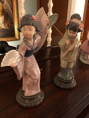 2 LLADRO JAPANESE FIGURINES,,,FROM SPAIN,,,,11.5 inches tall