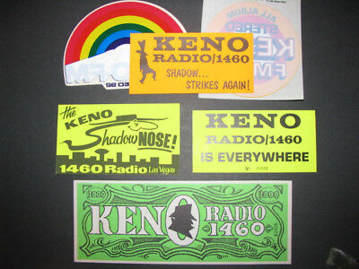 1970's Las Vegas Radio Station Bumper Stickers