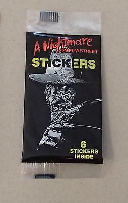 A Nightmare On Elm Street Trading Sticker Card Sealed Pack Vintage 1988 Kruger
