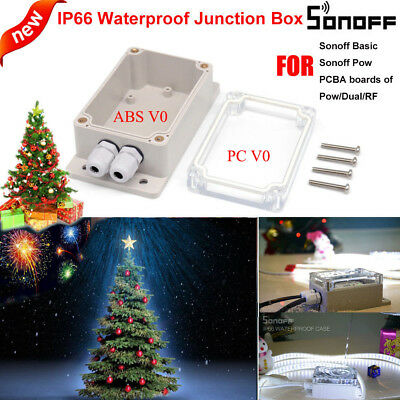 Sonoff IP66 Waterproof Enclosure Shell Junction Box For Sonoff Basic/RF/Dual/Pow