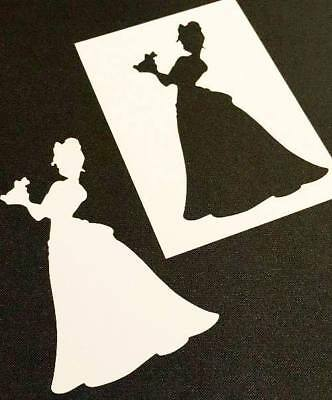 Princess Tiana Reusable Stencil Wall Party Cake Cards Paint Decoration Frog