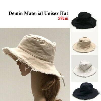 Bucket Hat Bush walking Fishing Outdoor Summer Hat Cotton Denim -Uni Sex 58cm